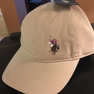 U.S. Polo Assn. Hat Cap One Size Adjustable Beige